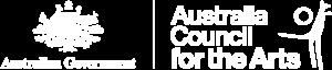 Australia Council logo white