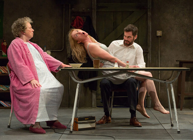Marie Mullen as Mag, Aisling O'Sullivan as Maureen and Marty Rea as Pato image by Stephen Cummiskey sm